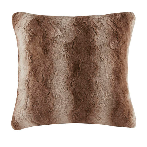 Madison Park Zuri Faux Fur Euro Pillow 25x25''