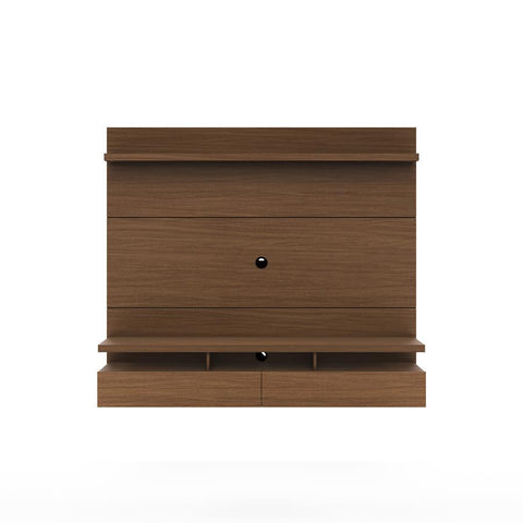 Manhattan Comfort City 25151 Floating Wall Theater Entertainment Center In Nut Brown