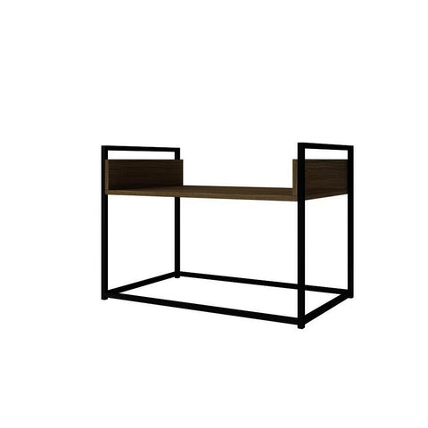 Manhattan Comfort Ellis 28 Inch Coffee Table in Dark Oak & Black