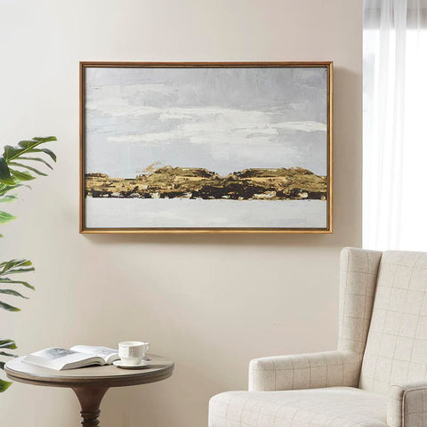 Martha Stewart Foggy Morning Framed Gel Coated Canvas