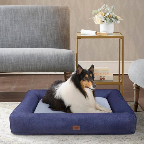 Martha Stewart Madison Bolster Pet Napper with removable cover 30x40+6.5""