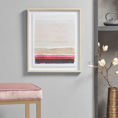 Martha Stewart Rothko's Stripes II Framed Glass Wall Art Single Mat