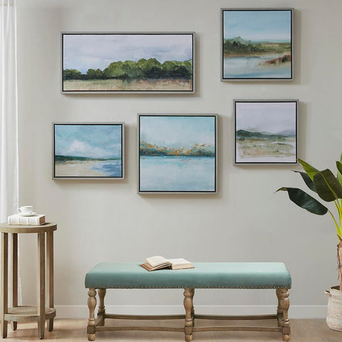 Martha Stewart Vista Framed Embellished Canvas Gallery 5 Piece Set