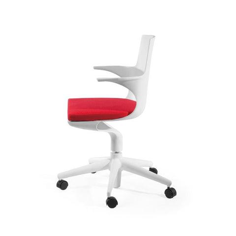 Mod Made Jaden Chair In White and Red
