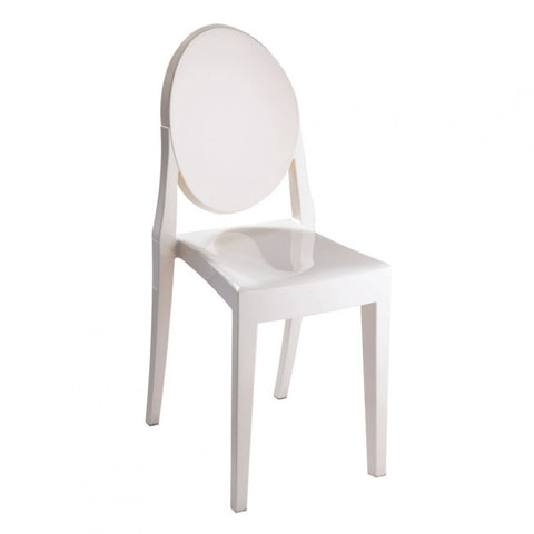 Mod Made Louie Armless Chair In Ivory