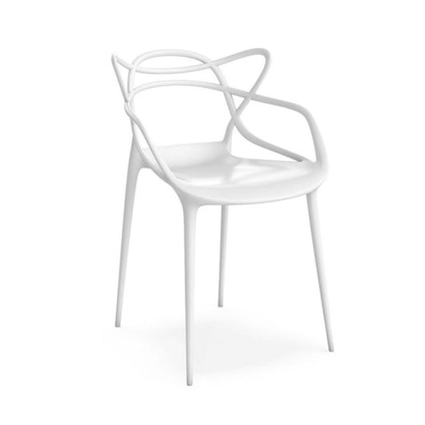 Mod Made Mod Made Loop Chair in White