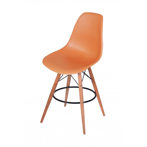 Mod Made Paris Tower Barstool In Orange