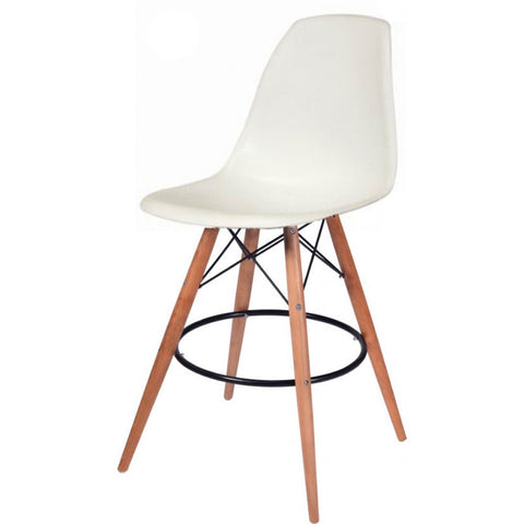 Mod Made Paris Tower Barstool In White