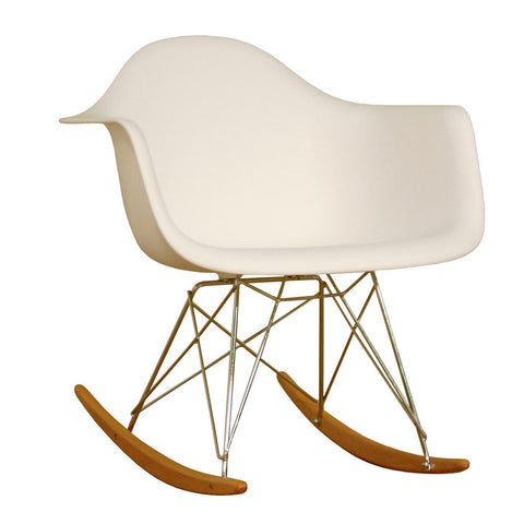 Mod Made Paris Tower Collection Rocker In White