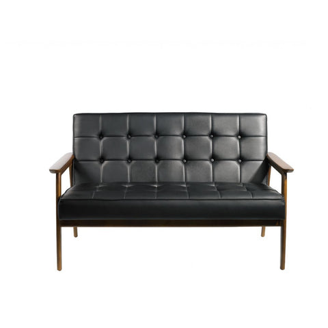 Mod Made Tufted Loveseat In Black