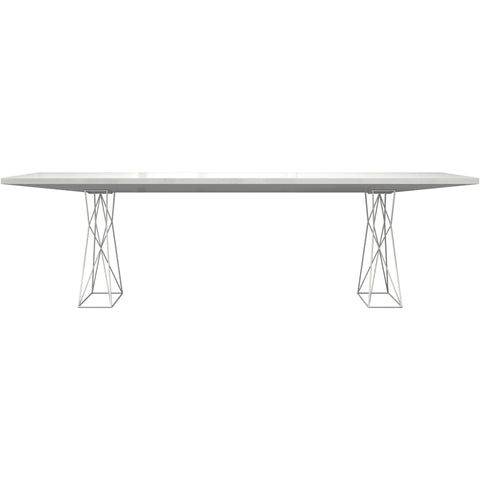 Modloft Curzon 102 inch Dining Table in White Lacquer