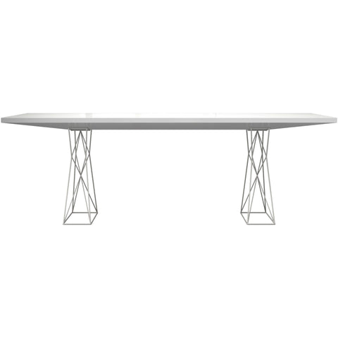 Modloft Curzon 87 inch Dining Table in White Lacquer