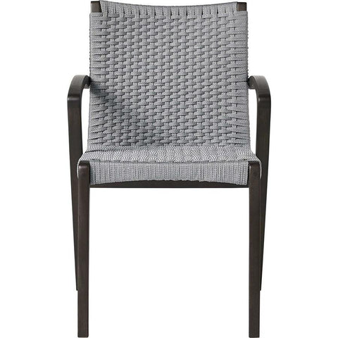 Modloft Verge Dining Chair in Light Gray Cord & Dark Eucalyptus