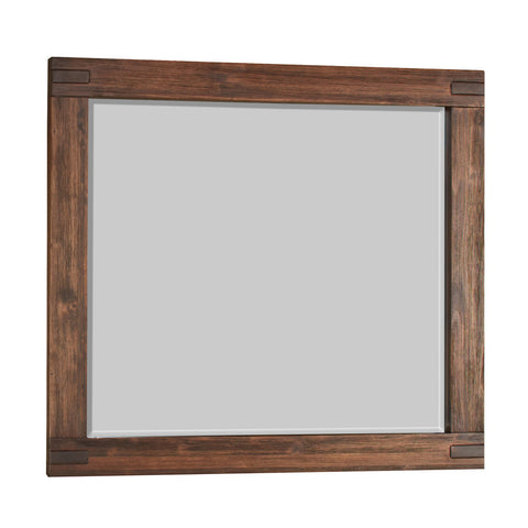 Modus Meadow Solid Wood Mirror in Brick Brown