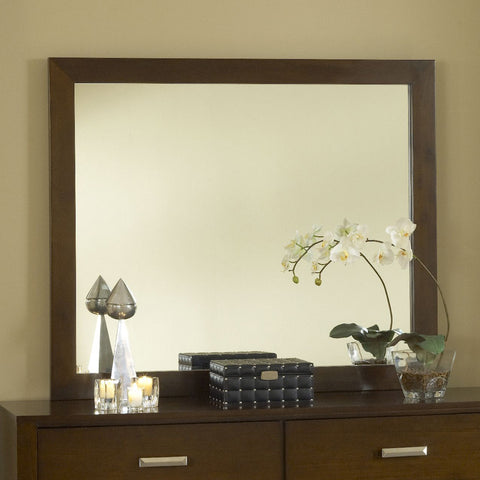 Modus Riva Rectangular Mirror in Chocolate Brown