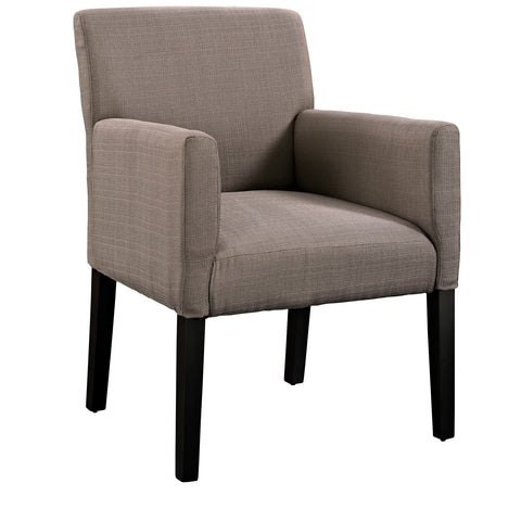 Modway Chloe Wood Armchair in Gray