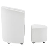 Modway Divulge Armchair And Ottoman In White