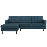 Modway Empress Left-Arm Sectional Sofa In Azure