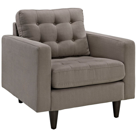 Modway Empress Upholstered Armchair in Granite