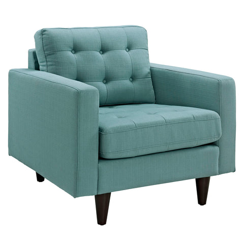 Modway Empress Upholstered Armchair in Lagua