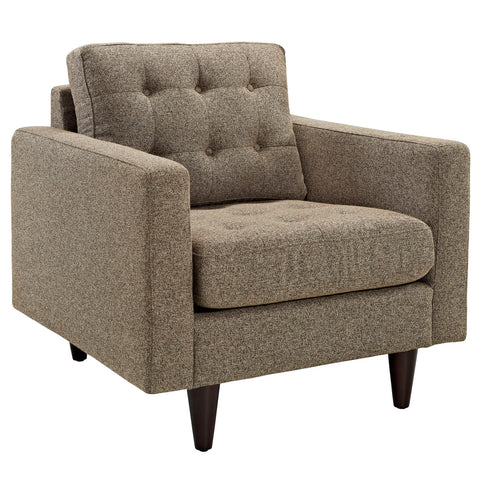 Modway Empress Upholstered Armchair in Oatmeal