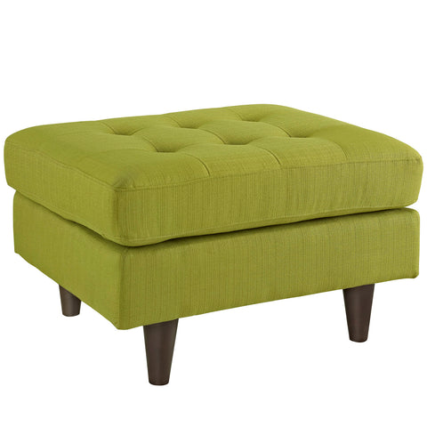 Modway Empress Upholstered Ottoman In Wheatgrass