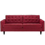 Modway Empress Upholstered Sofa in Red