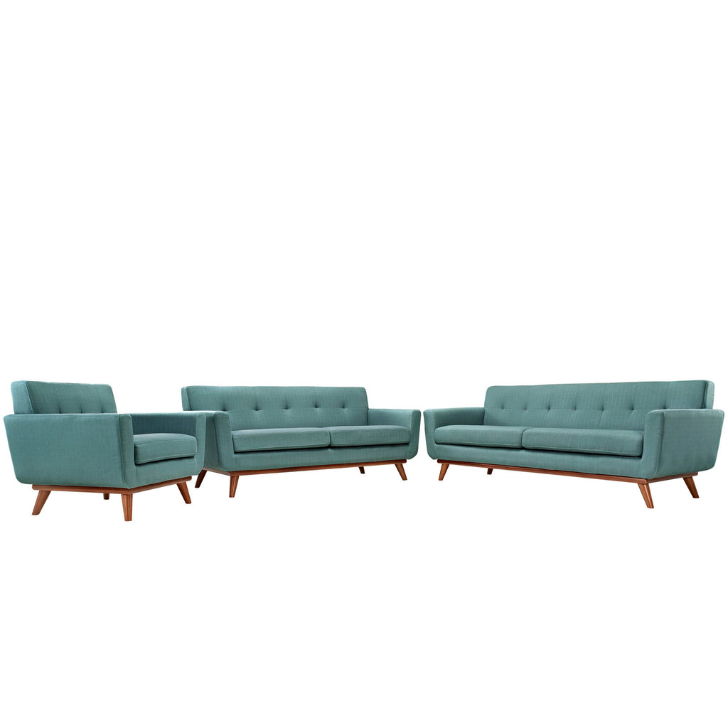 Astonishing Modway Engage Sofa Loveseat And Armchair Set Of 3 In Laguna Caraccident5 Cool Chair Designs And Ideas Caraccident5Info