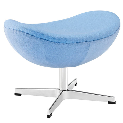 Modway Glove Wool Ottoman in Baby Blue