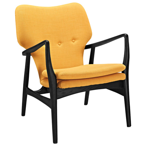 Modway Heed Lounge Chair In Black And Yellow