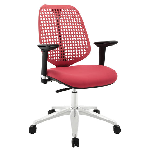 Modway Reverb Adjustable Armrests Office Chair in Red