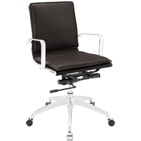 Modway Sage Mid Back Office Chair In Brown