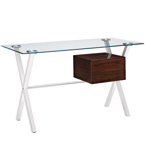 Modway Stasis Office Desk In Walnut