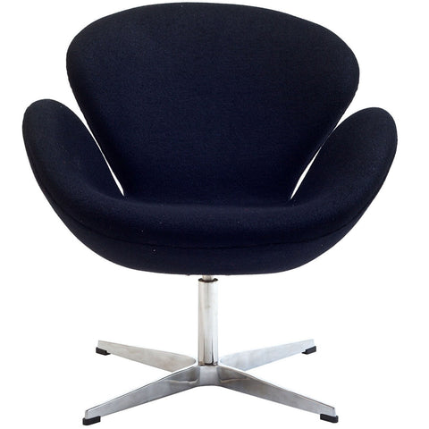 Modway Wing Lounge Chair in Black