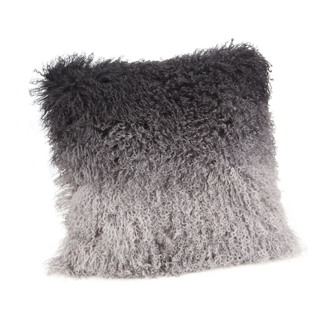 Moe's Home Lamb Fur Pillow In Grey Spectrum