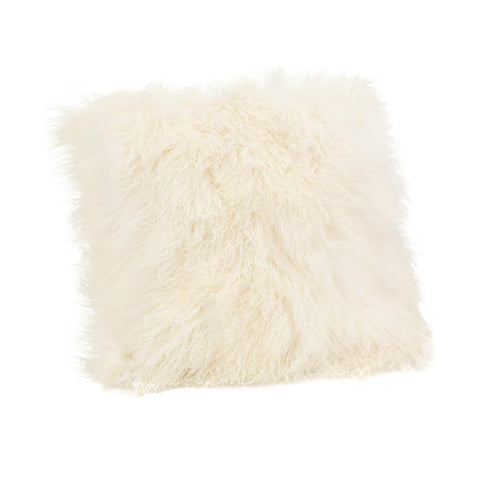 Moe's Home Lamb Fur Pillow Large In Cream