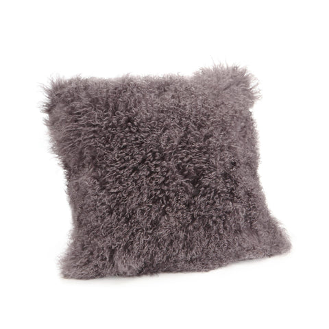 Moe's Home Lamb Fur Pillow Large In Grey