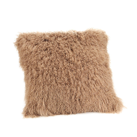 Moe's Home Lamb Fur Pillow Large Natural
