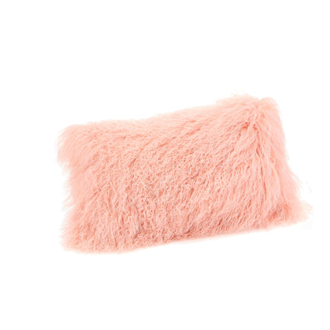 Moe's Home Lamb Fur Pillow Rect. In Pink