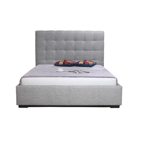 Moe's Belle Fabric Storage Bed In Light Grey