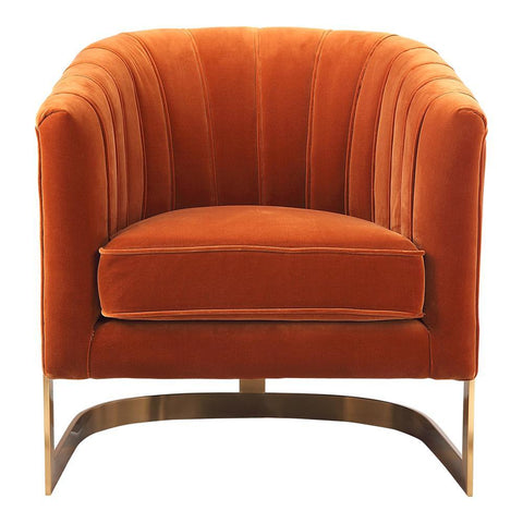 Moe's Carr Arm Chair Orange