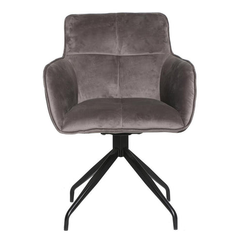 Moe's Cavazzi Swivel Chair Grey