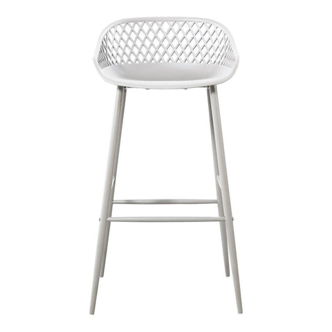 Moe's Piazza Outdoor Barstool White-Set Of Two