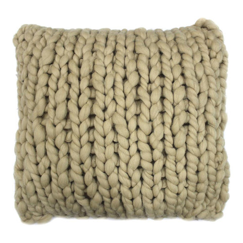 Moes Home Abuela Wool Feather 20X20 Cushion in Beige