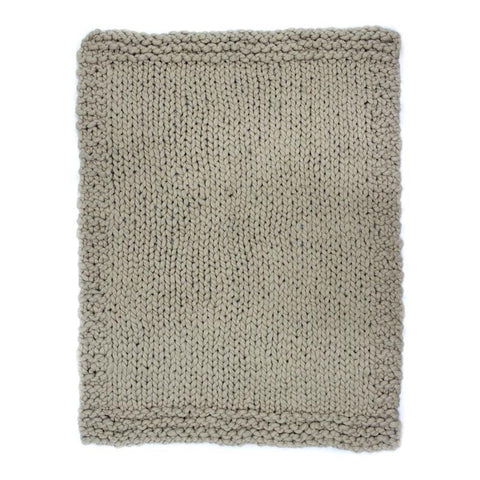 Moes Home Abuela Wool Throw in Beige