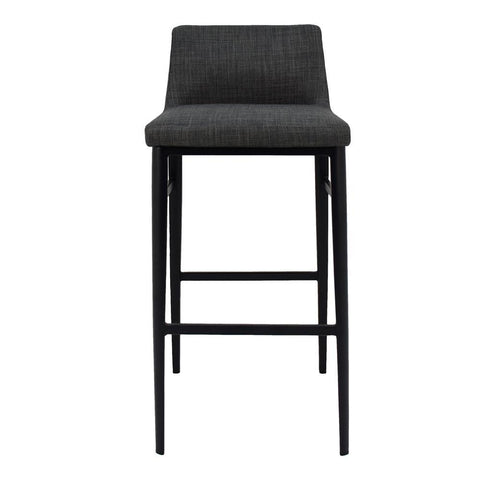 Moes Home Baron Barstool in Charcoal Grey
