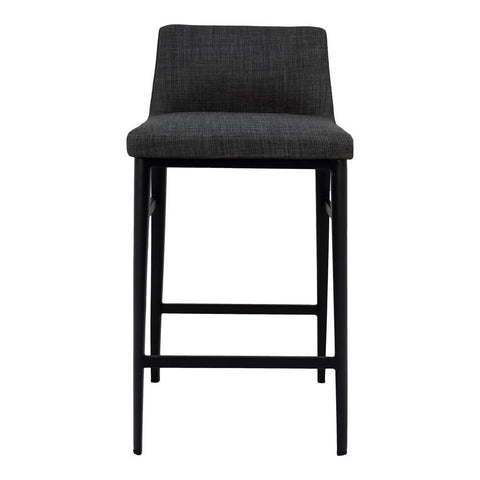 Moes Home Baron Counter Stool in Charcoal Grey