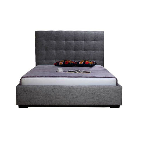 Moes Home Belle California King Storage Bed in Light Grey