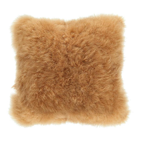 Moes Home Cashmere Fur Pillow in Brown