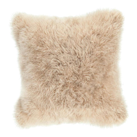 Moes Home Cashmere Fur Pillow in Cream White